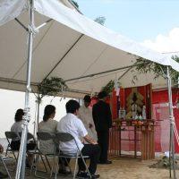 地鎮祭の風景 -広島市安芸区ー